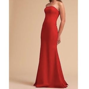 Anthropologie BHLDN Red Tess Dress